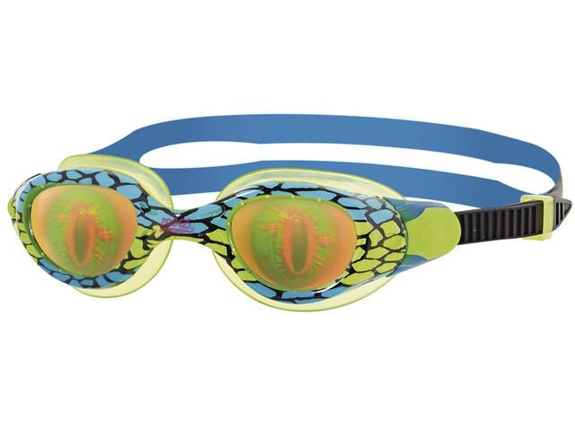 Zoggs Sea Demon Goggles Kids, green/blue